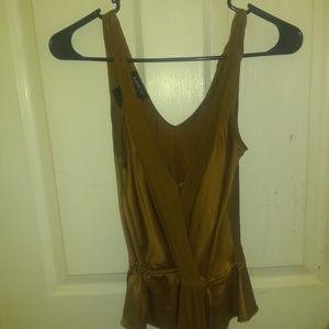 Bebe bronze sexy blouse